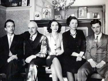 1946, Maurice, François, Gaby, Germaine et Louis de Kinder