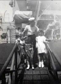 1948, bateau - Marc, Irène et Paulette
