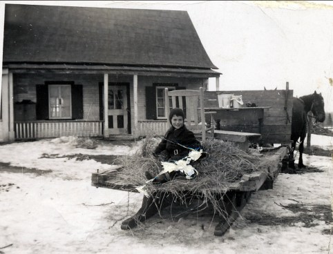 1950, Irène à St-Canut