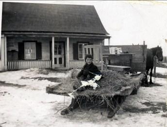 1950, Irène Thivierge à St-Canut