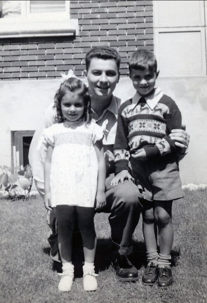 1950 approx Hélèna Sofio, Pierre Thivierge (oncle) et Jimmy Sofio