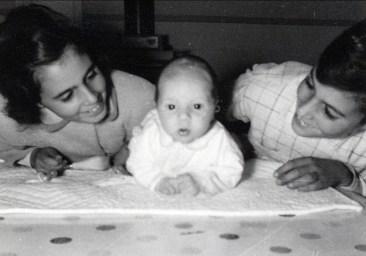 1955, Hélèna, François et Jim Sofio
