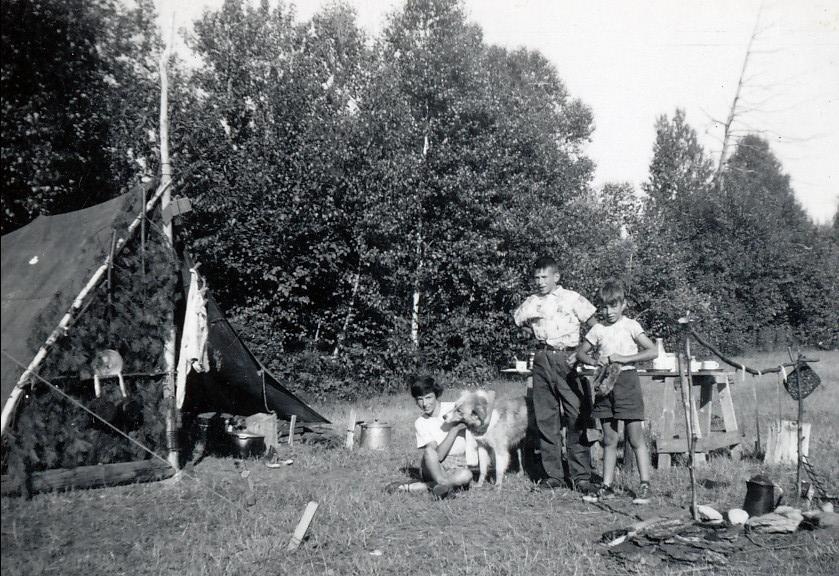 1955, St Canut - Irène, Marc et Bobby