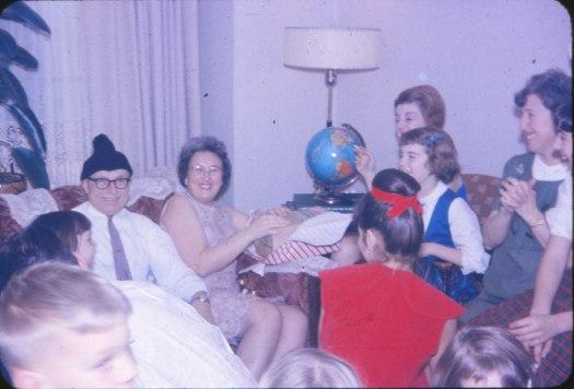 1957, approx - Noël chez François de Kinder