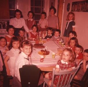 1957, approx fête enfants Naubert et de Kinder