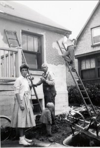 1957, extension - Irène, Claire, Albert, Marc