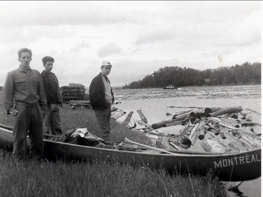 1959, Claude Famelart, Marc et André Dumontier rivière la Lièvre