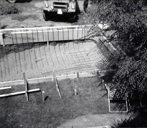 1960, Creusage piscine