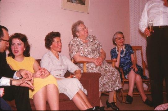 1960, Maurice, Paulette, Anna Grunefeld, aunt Cecilia Rochford et Antoinette Bergeron