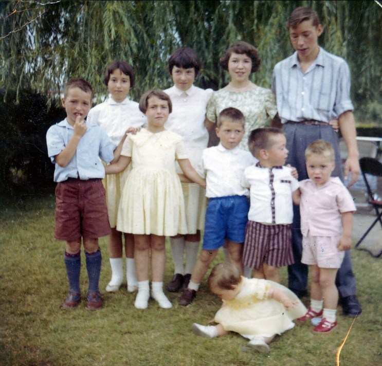 1960, septembre, 9 enfants Naubert