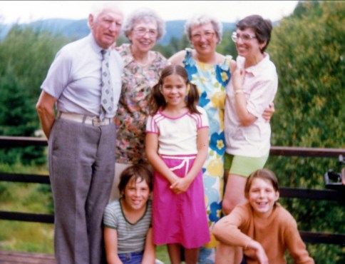 1978, Polydor, Germaine, Henriette et Gaby. en avant Alexandre, Marie-Jo et Albert de Jonge