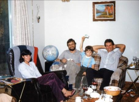 1983, Val-David Tina, Bobby, Martin et Marc