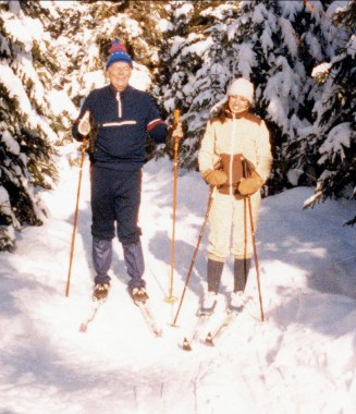 1984, approx Albert et Tina à Val-David