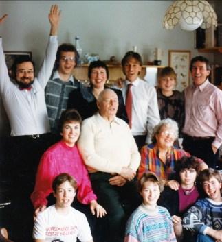 1986, Noël; Val-David, famille Thivierge