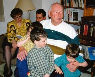 1992, Albert avec Jean, Simon et Hubert