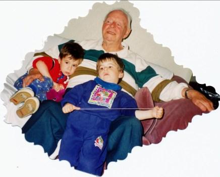 1992, Albert avec Simon et Hubert (2)