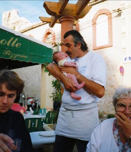 1993, Gaël, Nicolas et son grand-père, Henriette