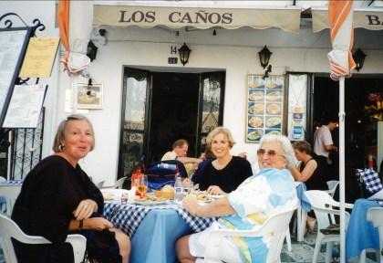 1997, Paulette, Irène et Henriette en Espagne