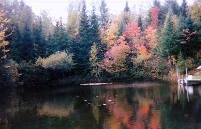 1998, Val-David, maison vue sur étang