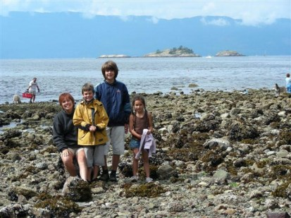 2007, Marie-Jo, Thomas, Nicolas et Emma à Vancouver
