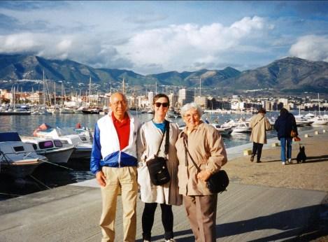 Jim et Henriette avec Judy en Espagne