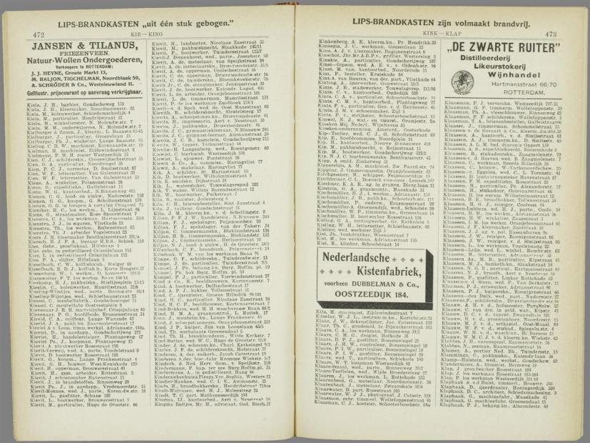 b-16b.adresboek Rotterdam 1901