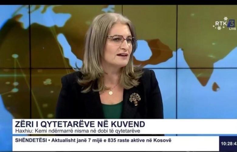 Haxhiu: Të mos politizohen nismat ligjore në Kuvend