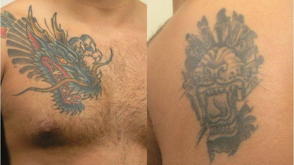De politie heeft ook foto's van de tatoeages van de verdachte verspreid.