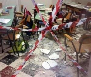 crollo scuola elementare