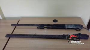 Foto canne fucile rinvenute