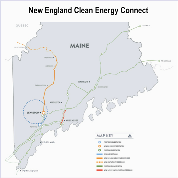 Map Of New England And Quebec.Hydro Quebec Archives Rto Insider