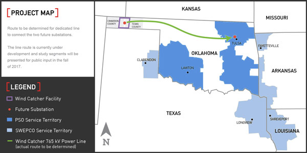 AEP To Spend B On Largest Wind Farm In US RTO Insider - Map of wind farms in us