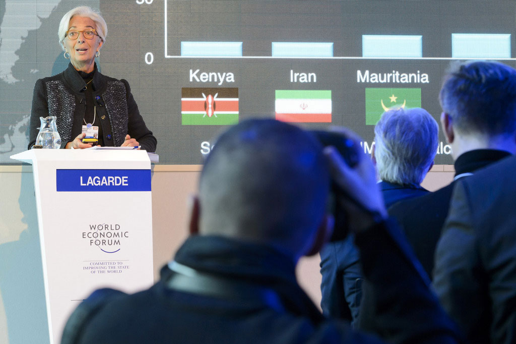 """Christine Lagarde a plaidé à Davos pour une intégration """"rapide"""" des migrants au marché du travail."""