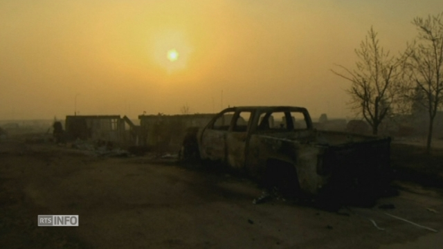 Images des ravages causés par l'incendie géant au Canada