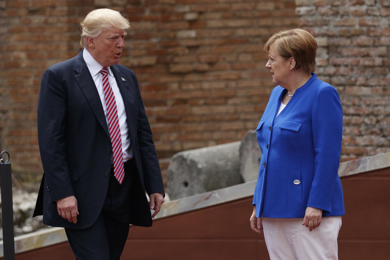 L'ambiance entre Donald Trump et Angela Merkel, ici au G7 de Taormine le 26 mai 2017, est désormais très mauvaise.