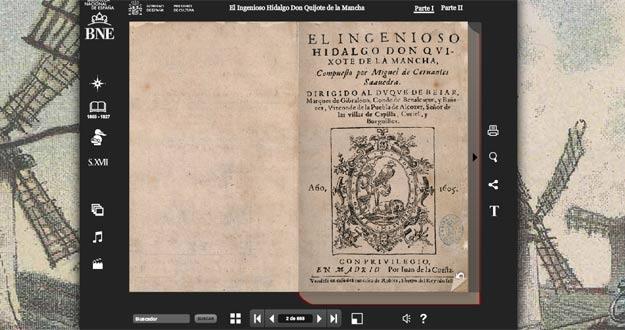 Primeira edición de El Quijote