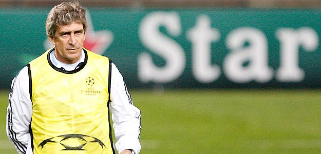 El entrenador del Real Madrid, el chileno Manuel Pellegrini