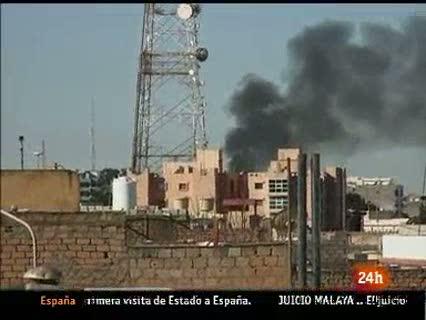Ver vídeo 'Las fuerzas pro Gadafi continúan atacando las ciudades en poder de los rebeldes'