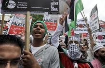 PROTESTA CONTRA ISRAEL EN LONDRES