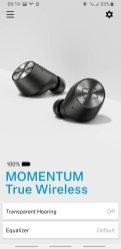 Sennhaiser Smart Control Trasparent earing i equalizer