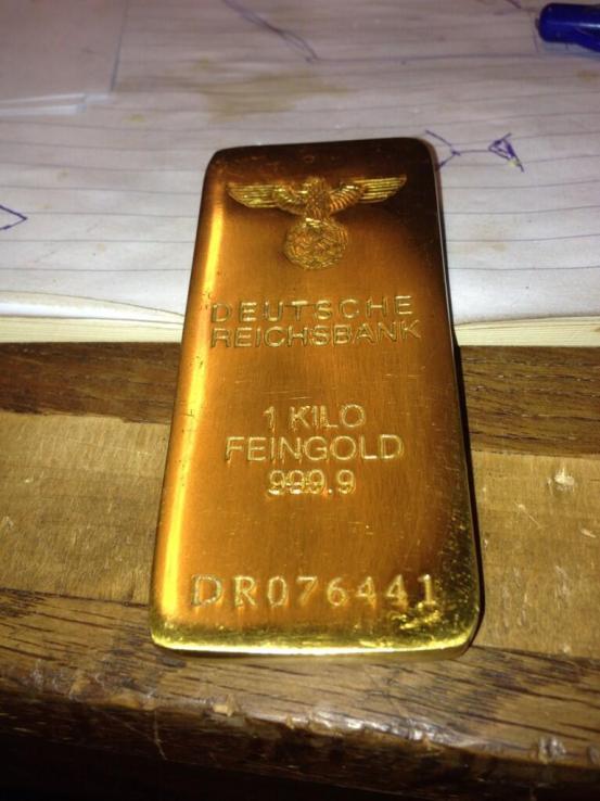 De goudstaaf. Foto: Leen de Jager