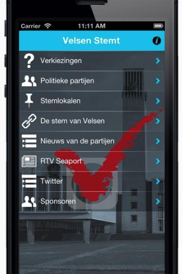 App 'Velsen Stemt' beschikbaar in App Store en Google Play