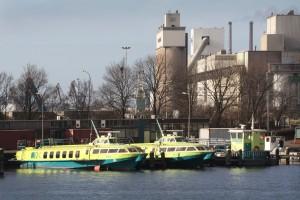 De Fast Flying Ferry's in de haven van Velsen-Noord. Foto: RTV Seaport/Ron Pichel