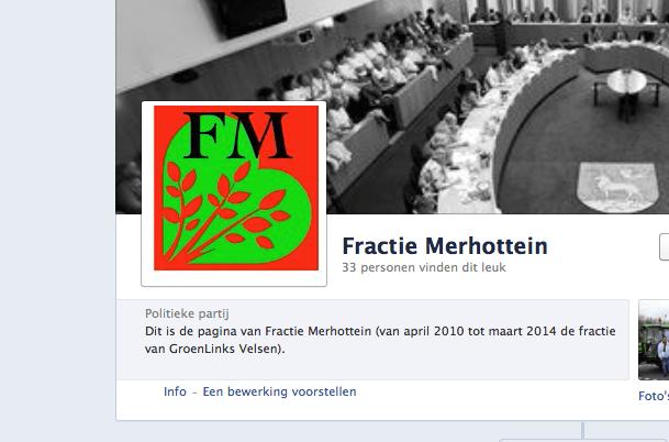 Fractie GroenLinks verder als Fractie Merhottein