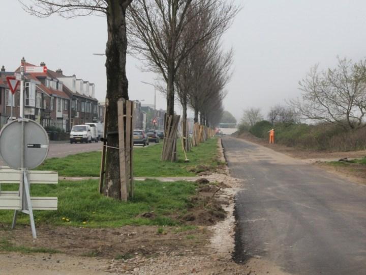 Nieuw fietspad IJmuiderstraatweg ligt er