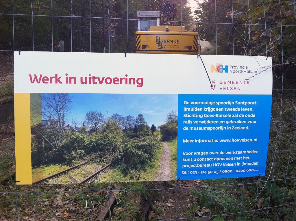 HOV werkzaamheden station Driehuis - Westerveld