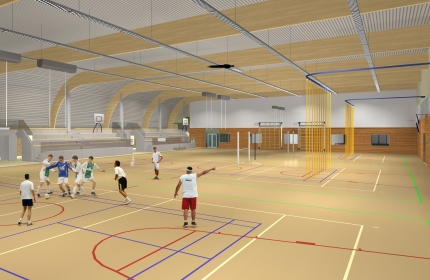 Kijkje in de nieuwe sporthal Zeewijk