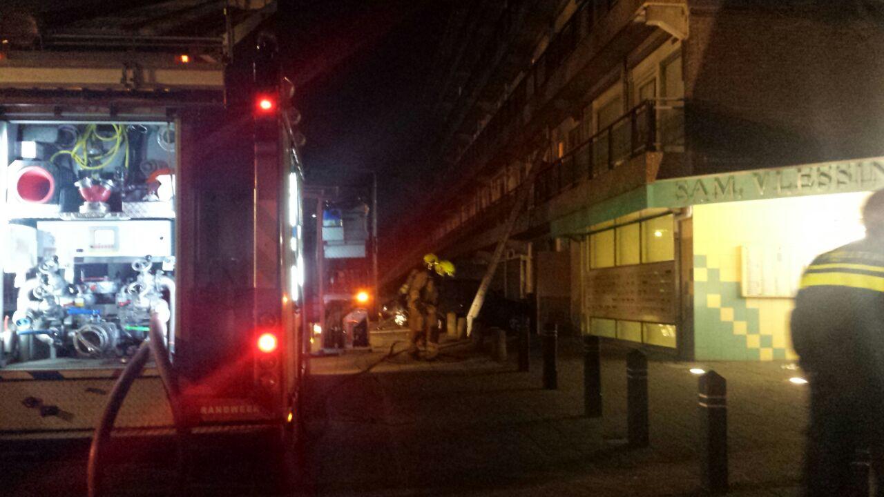 Grote brand in flat IJmuiden-West