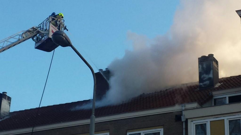 Uitslaande brand in centrum IJmuiden