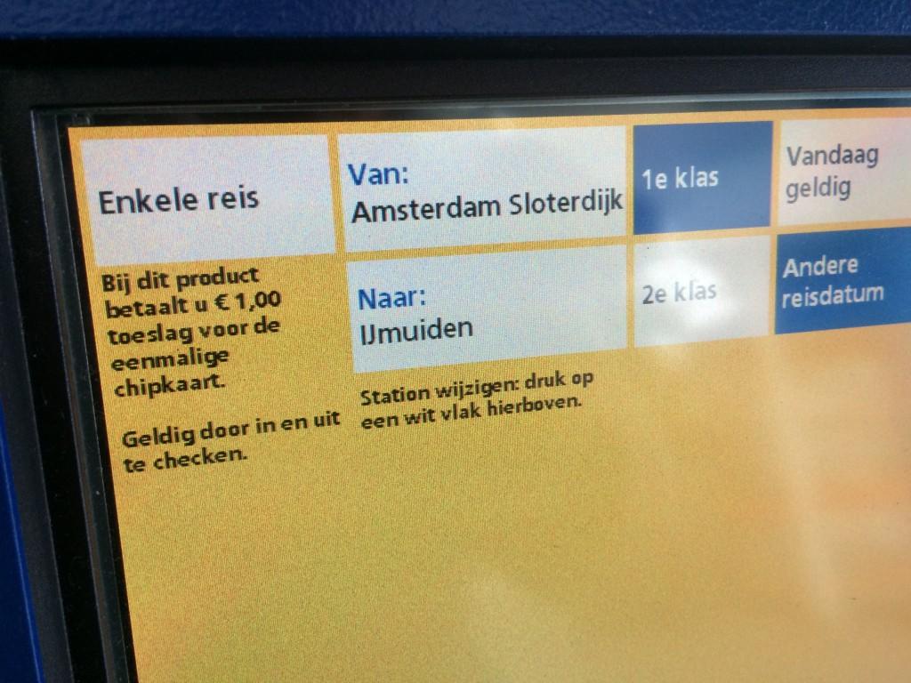 NS verkoopt treintickets naar IJmuiden